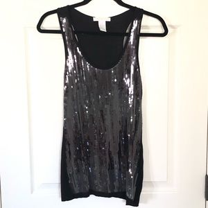 Design History black sequins tank top size small
